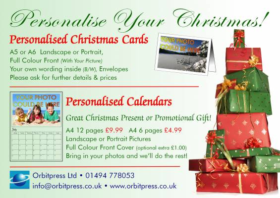 Personalised Calendars and Christmas Cards