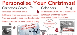 Personalised Christmas Cards and Calendars